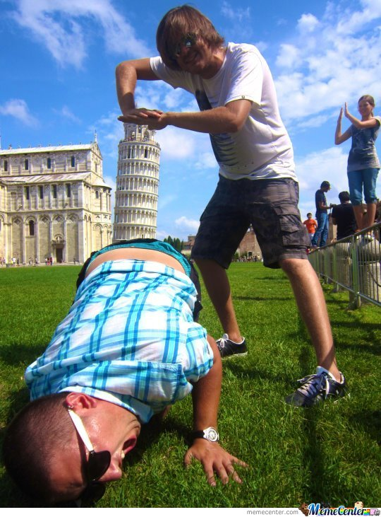 Epic Pisa Tower Shot