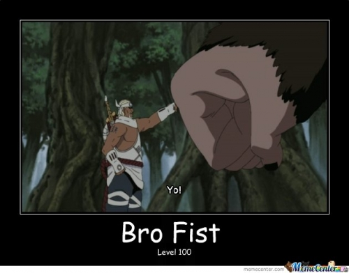 Epic bro fist.