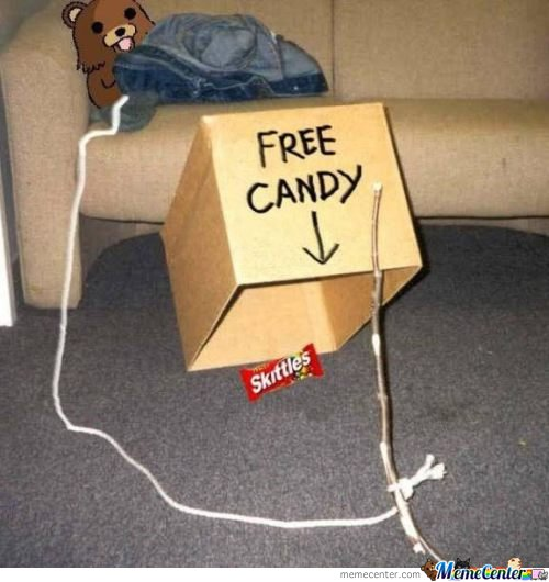 Every little girl want free candy right