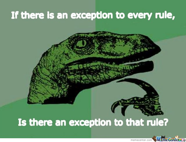 Exception rules
