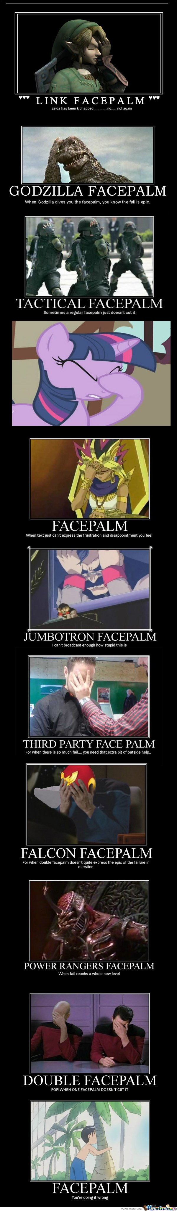 Facepalm whenever u need them