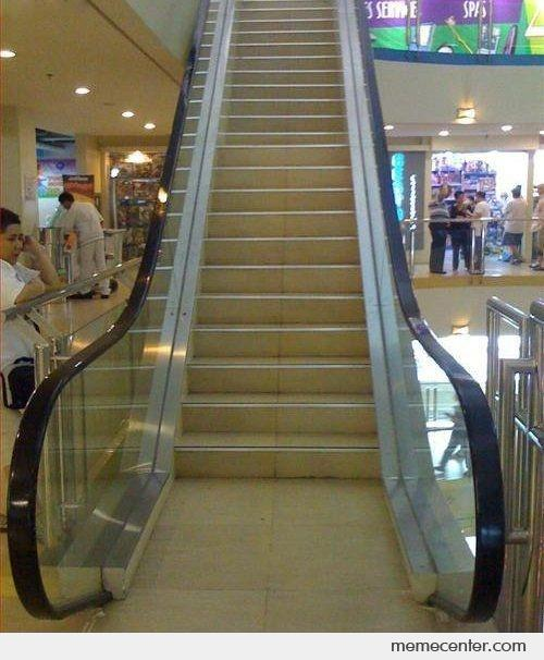 Fail Moving Staircase