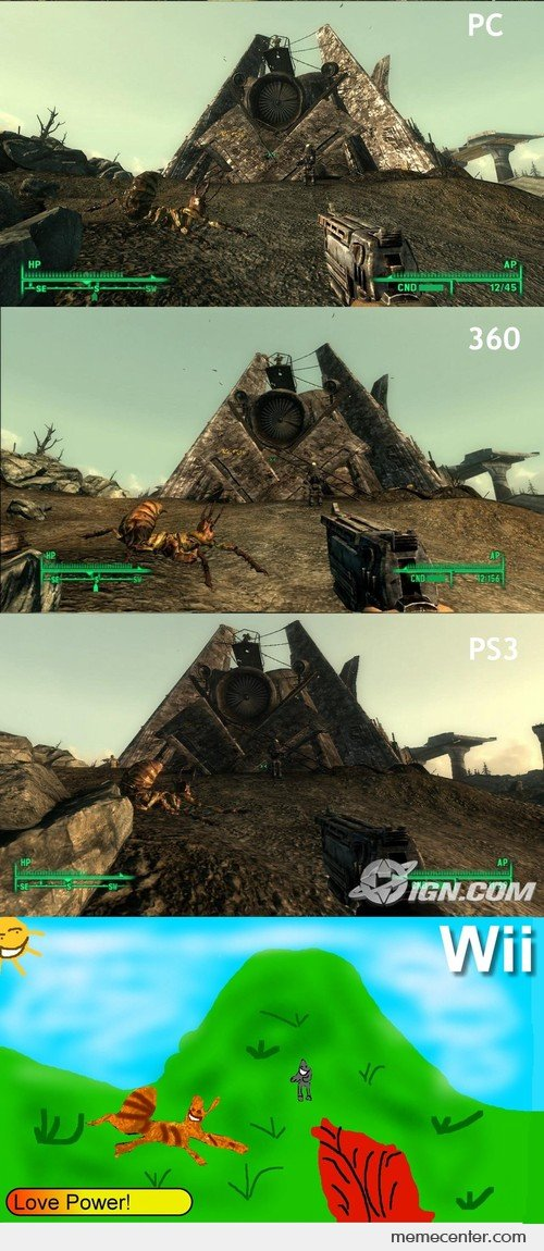Fallout 2 PC-360-PS3-Wii Comparison
