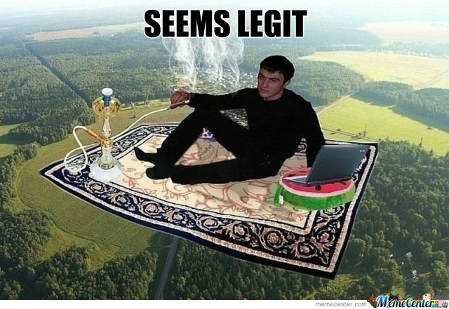 Flying Carpet Seems Legit