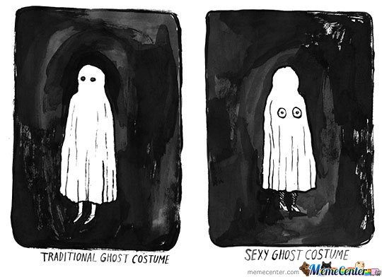Ghost Costume by mustapan - Meme Center
