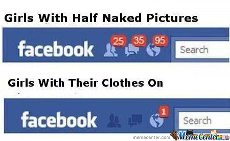 Girls With Half Naked Girls On Facebook