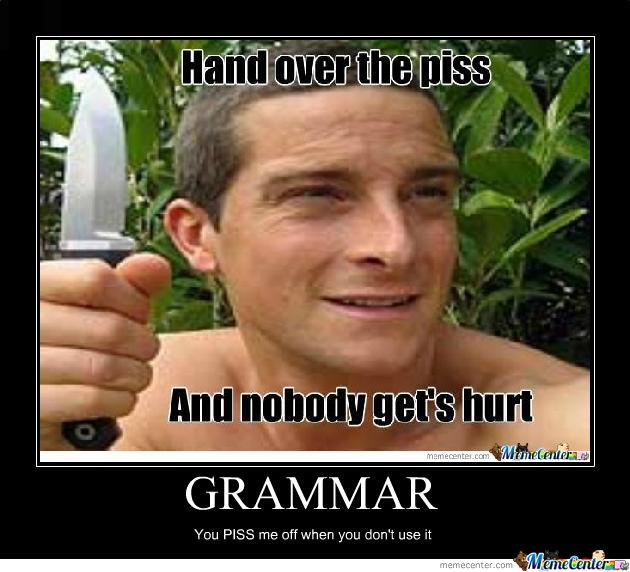 Funny Memes For Punctuation : Grammar by bus meme center