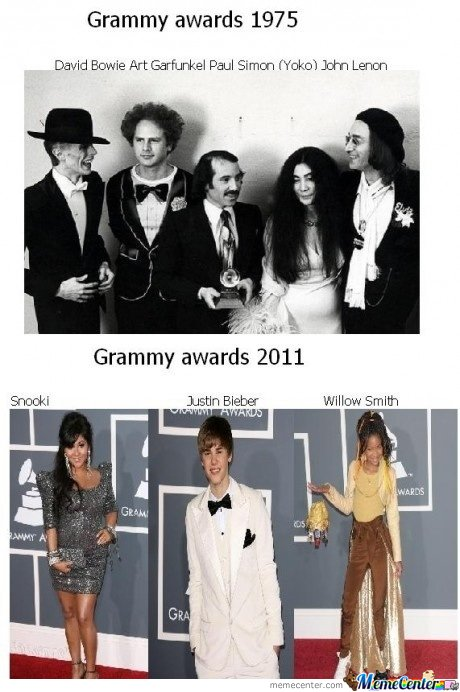 Grammy Awards Then & Now