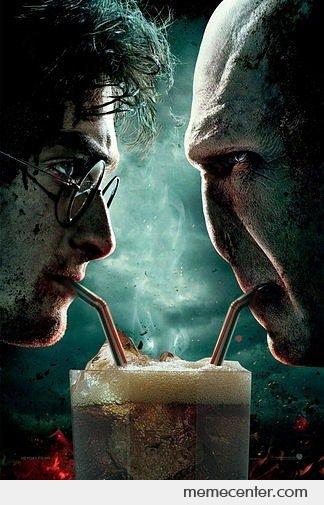 Harry Potter And Voldemort Sharing a Milkshake