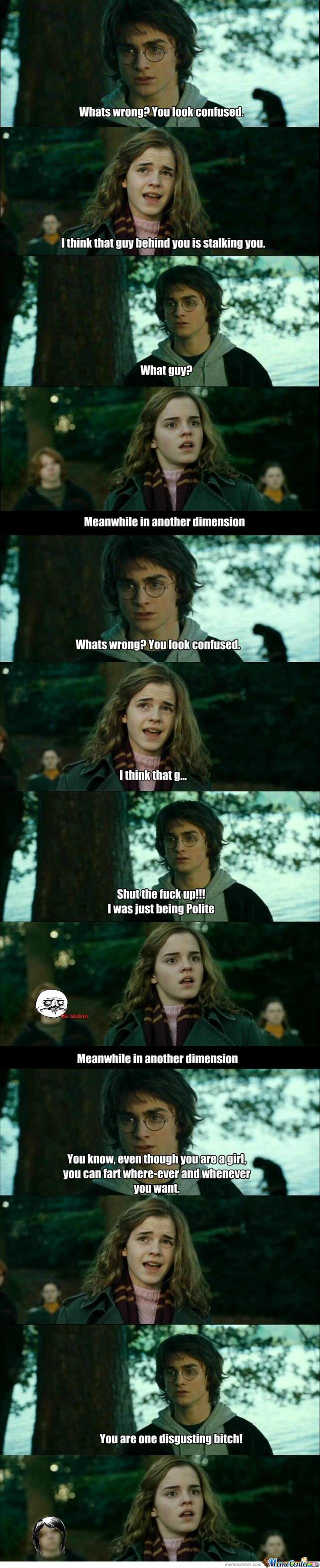 Hey hermione whats wrong?