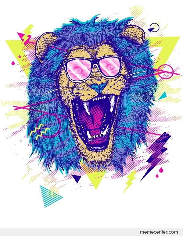 Lion hipster - photo#6