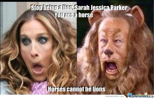Horses cannot be lions