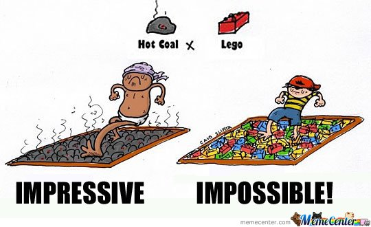 Hot Coal Vs Lego
