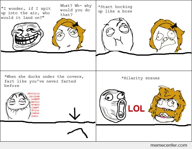 How to troll in bed
