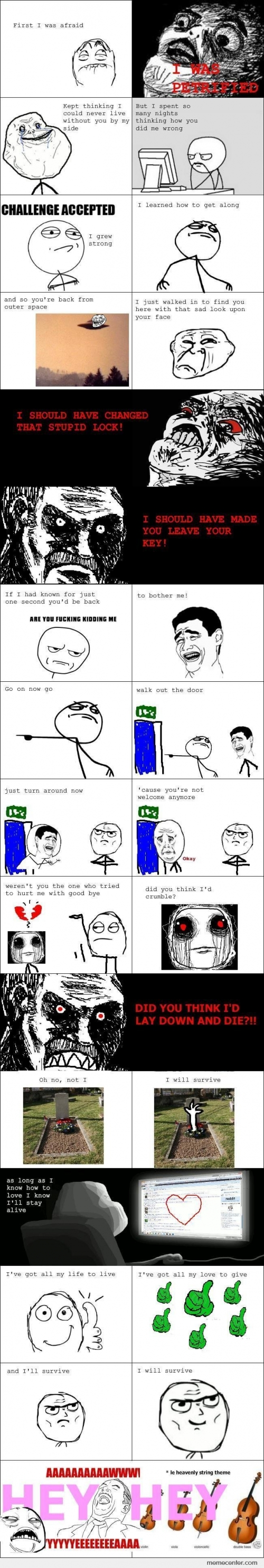 I Will Survive Lyrics Rage Comics Style