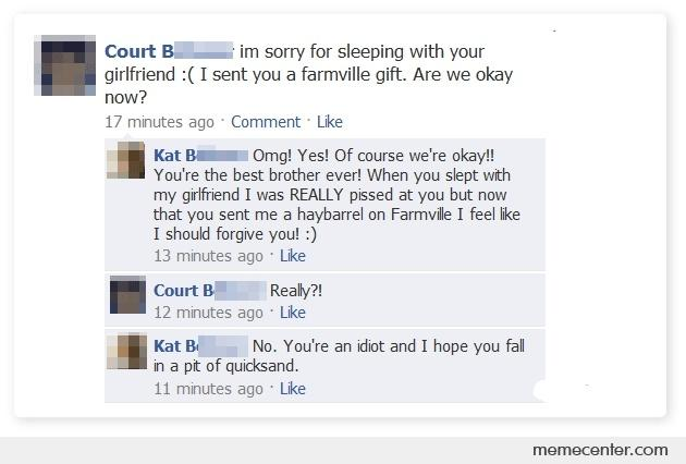 Im Sorry For Sleeping With Your Girlfriend By Ben Meme Center