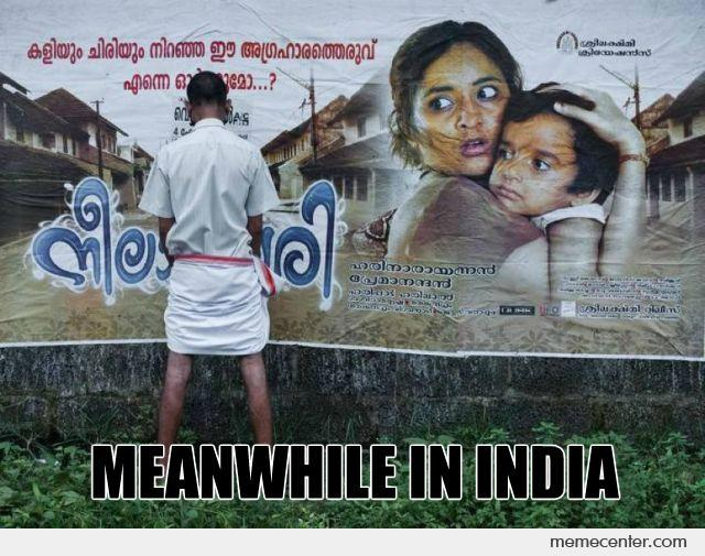 Indian Guy Pissing On Movie Poster
