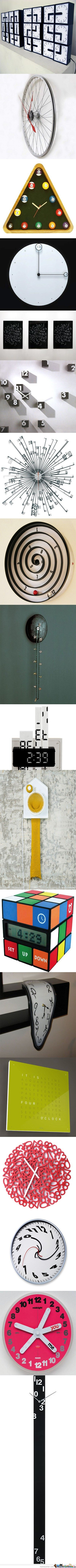 Interesting Clock Designs (1st one is my fav)