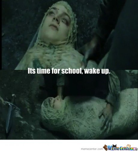 Its time for school,wake up