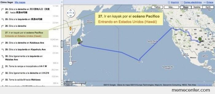 Japan to USA, use your kayak please, by Google Maps by ben ... on google navigation app, full screen map please, google team please,