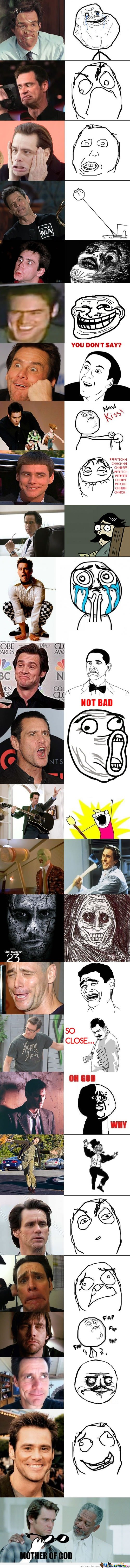 Jim Carrey & Rage Faces