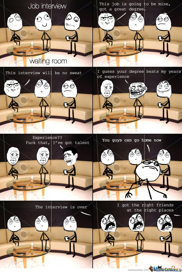 Job Interview Rage