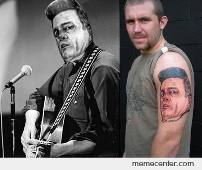 Johnny Cash Tattoo Fixed By Ben Meme Center