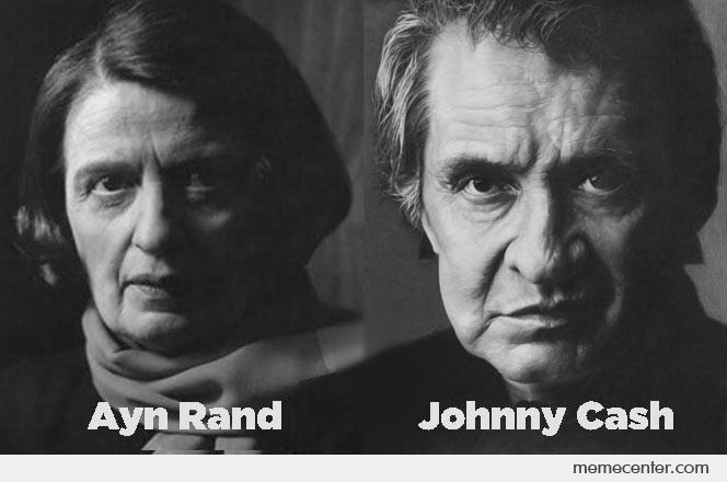 Johnny Cash and Ayn Rand_o_61638 johnny cash and ayn rand by ben meme center