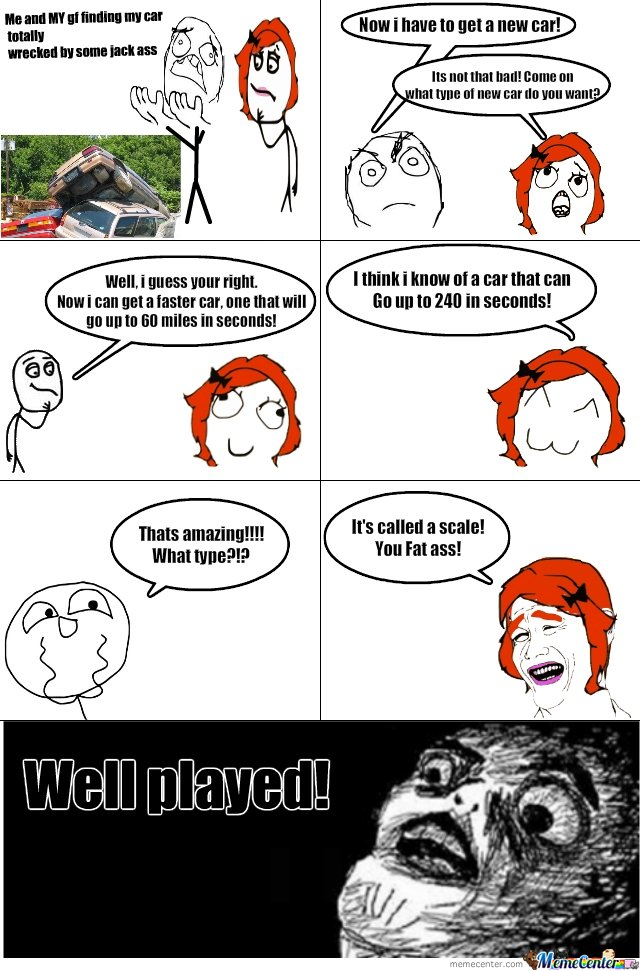 Le clever girlfriend!