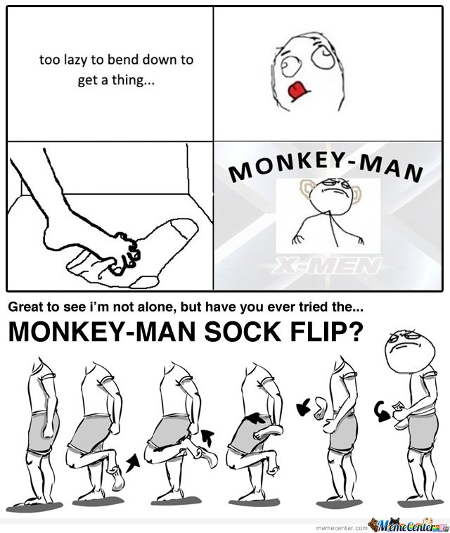 MONKEY-MAN SOCK FLIP