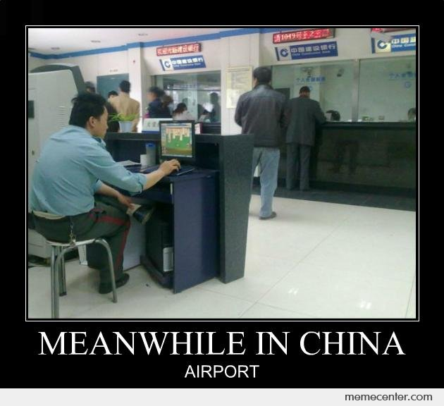 Meanwhile in China Airport