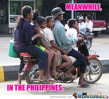 Meanwhile, in the Philippines.