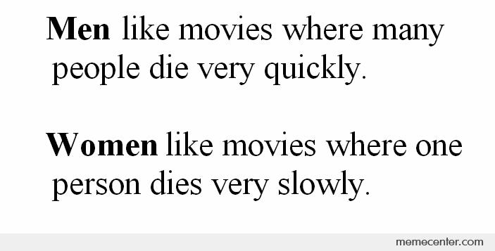 Men And Women Are Like Movies