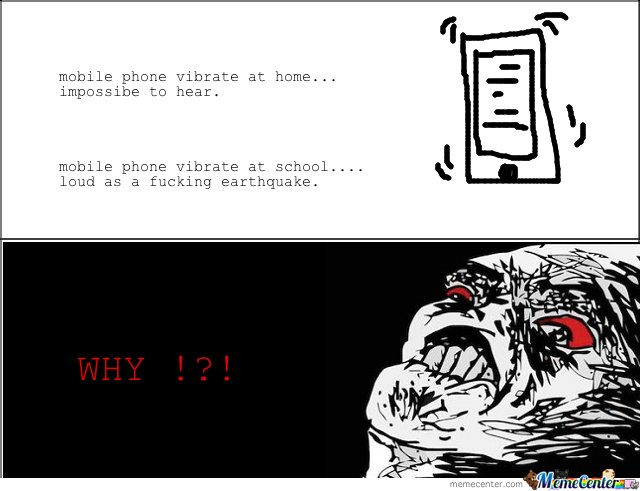 Mobile phone vibrate at home & at school