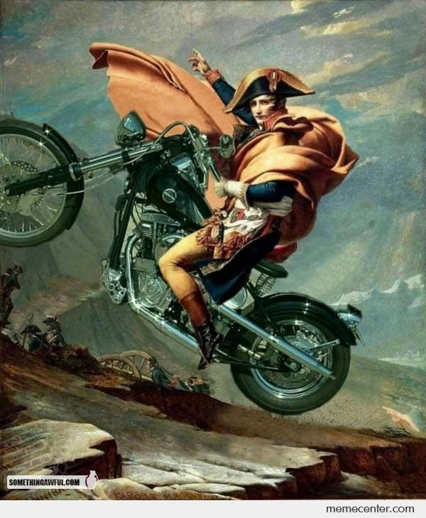 Napoleon on motorbike by ben meme center for Napoleon horse painting