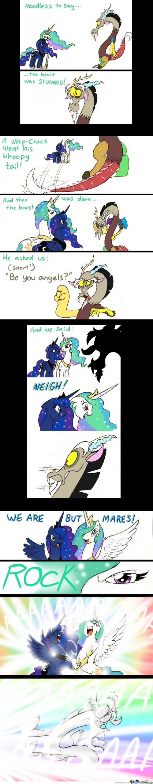 Needles to say the beast was stunned - My Little Pony Comic