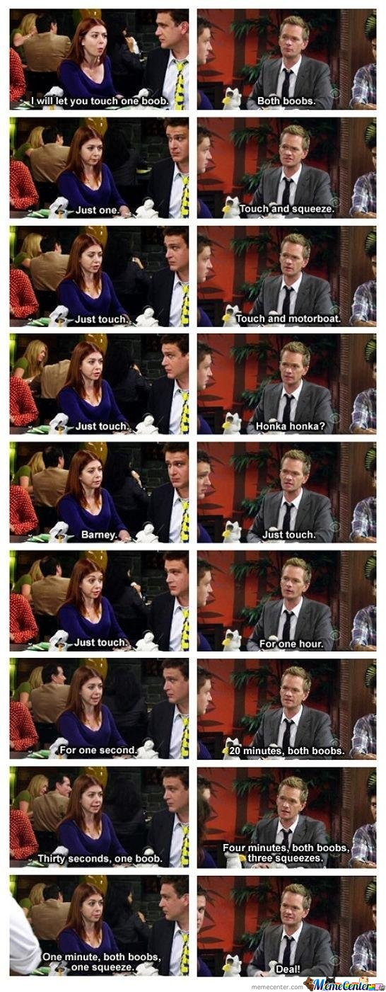 Negotiations With Barney Stinson