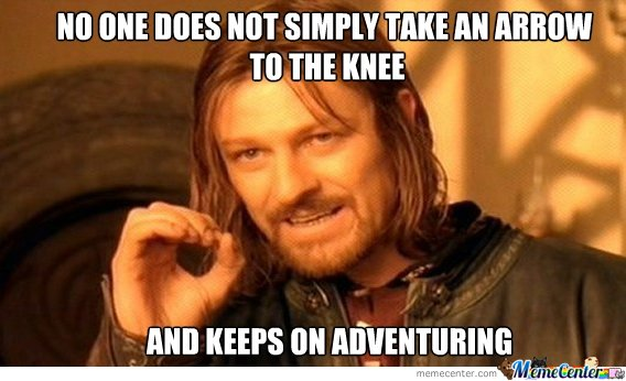 One does not simply take an arrow to the knee