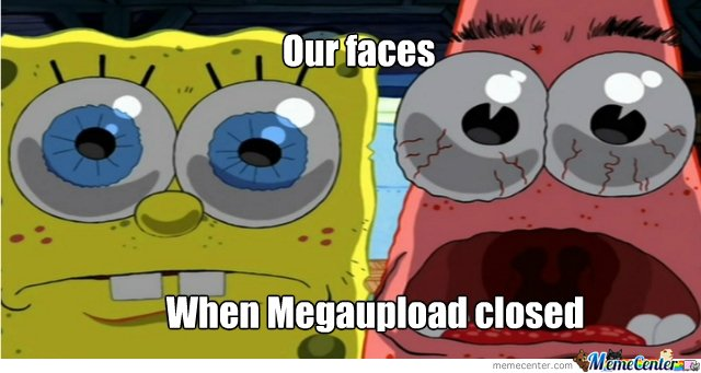 Our faces, when megaupload closed