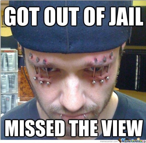 Out of jail. Missed the view
