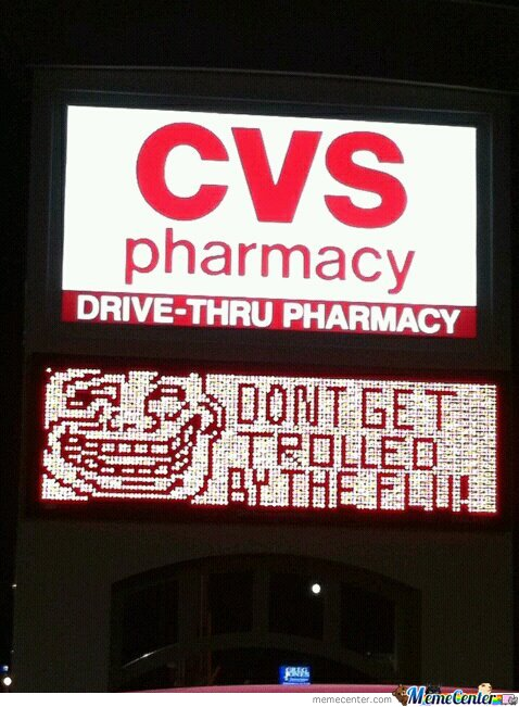 Pharmacy Win! Don't get trolled by the Flu