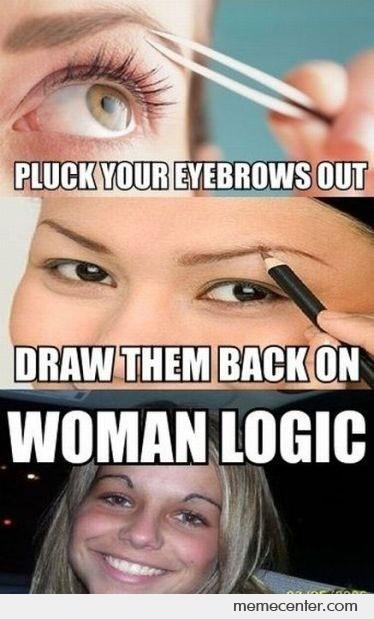 Pluck and put back your eyebrows