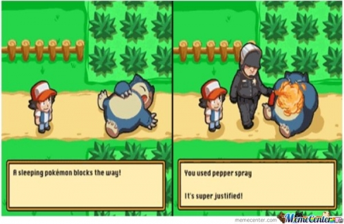 Pokemon Blocking the Way? Then use Pepper spray