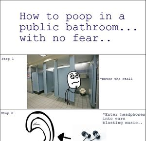 Pooping In Public Bathrooms By Mustapan