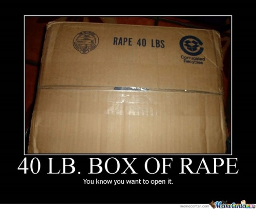 Rape now comes in boxes!