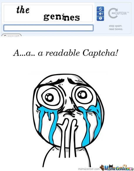 Readable Captcha