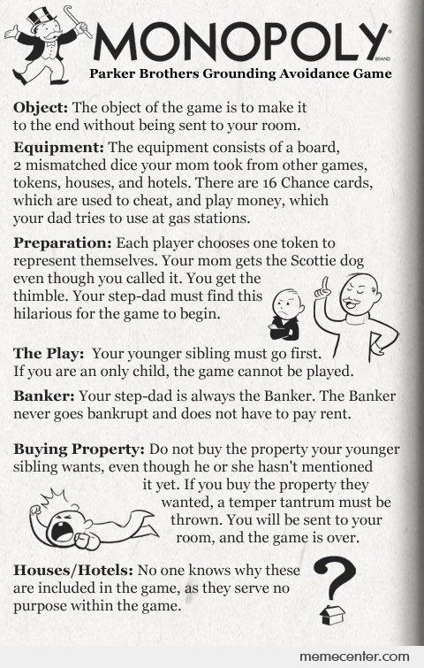 Rules for Monopoly by ben - Meme Center