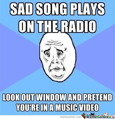 Sad Song Plays On The Radio