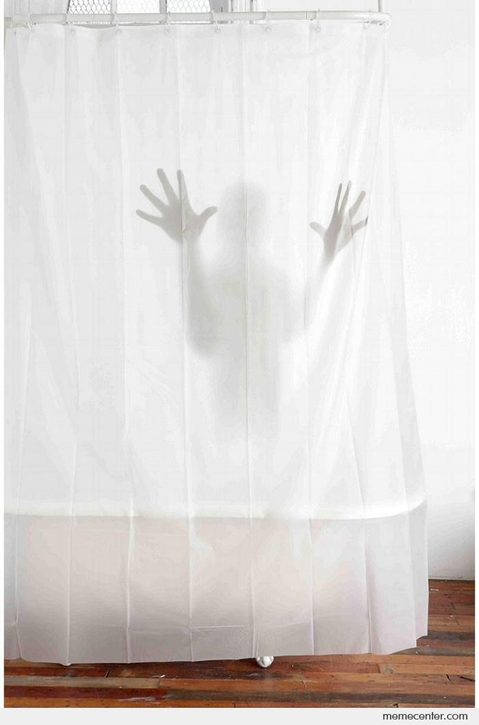 Scary Shower Curtain By Ben