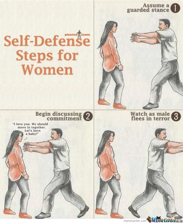 Self Defense Steps For Women_o_105961 self defense steps for women by mustapan meme center